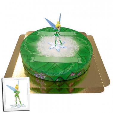 Tinkerbell op zomerbos taart