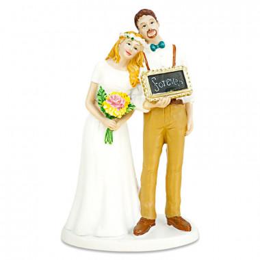 """Taartenfiguur - bruidspaar """"Forever"""""""