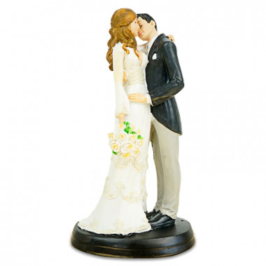 Taartenfiguur - kussend bruidspaar