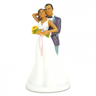 Taartenfiguur - liefdevol bruidspaar