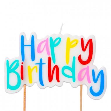 Taartenkaars, Happy Birthday Gekleurd