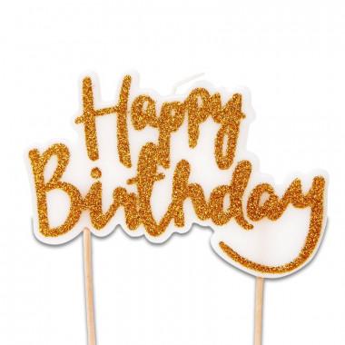 Taartenkaars, Happy Birthday Goud