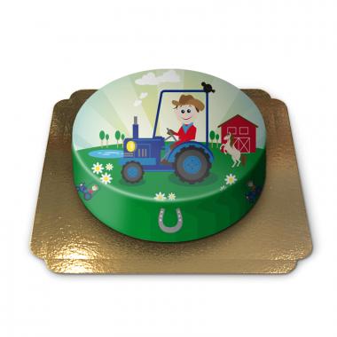 Tractor kindertaart