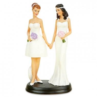 Taartenfiguur - vrouwelijk bruidspaar