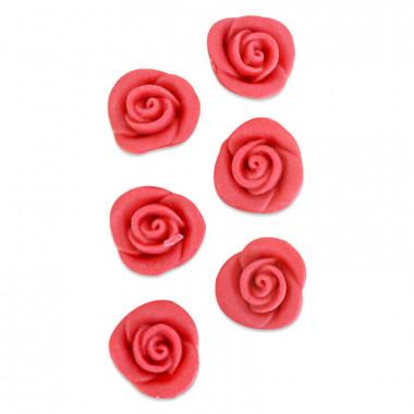 Marsepein Roos rood  (6 stuks)