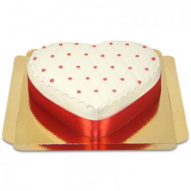 Deluxe taart in hartvorm, rood