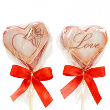 Valentijnsdag hartvormige Cake Pops Rood (12 Stuks)