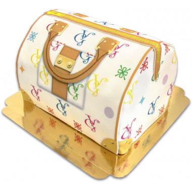 Handtassen taart VG, wit met kleurrijke details
