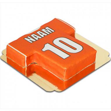 Voetbalshirt taart, effen - verschillende kleuren