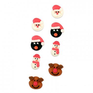 Kerstmis suikerdecoratie (8 stuks)