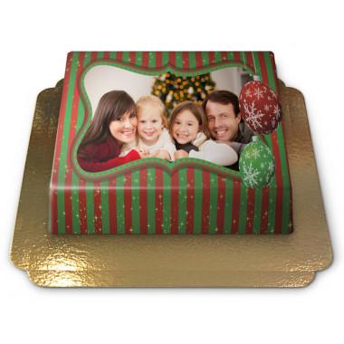 Fototaart S Kerst - 20 x 14 cm