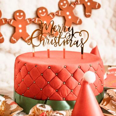 Kersttaart Deluxe incl. Caketopper Merry Christmas