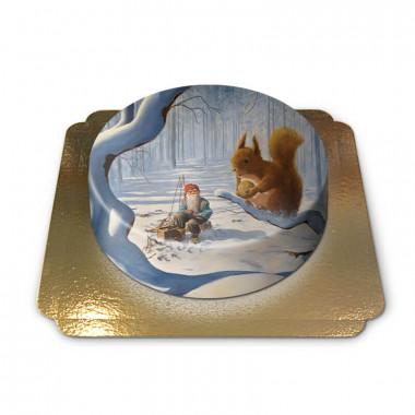 Kerstkabouter met eekhoorn - Jan Bergerlind