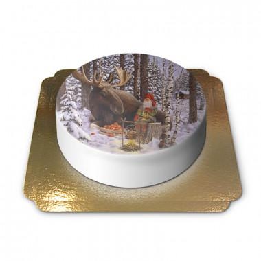 Kerstkabouter met eland - Jan Bergerlind