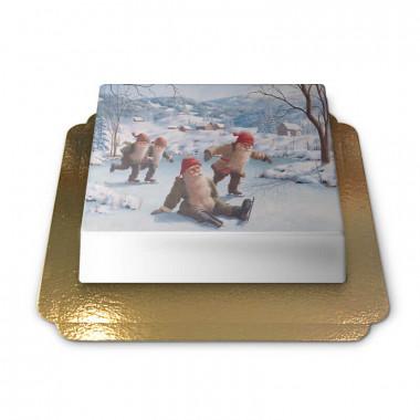 Kerstkabouters op een ijsbaan - Jan Bergerlind