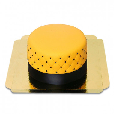 Gele Deluxe Taart - dubbele hoogte