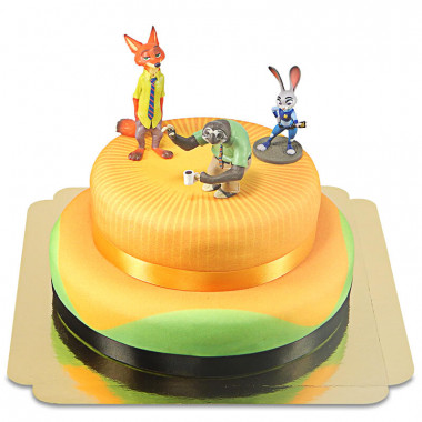Zootropolis 2 - Judy, Nick & Flash op twee-verdiepingen taart