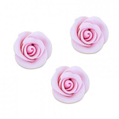 Suiker roos roze, ongeveer 35 mm (3 stuk)