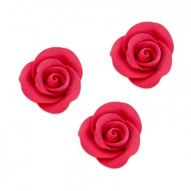 Suiker roos rood, ongeveer 35 mm (3 stuk)