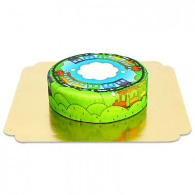 Trein taart voor kinderen