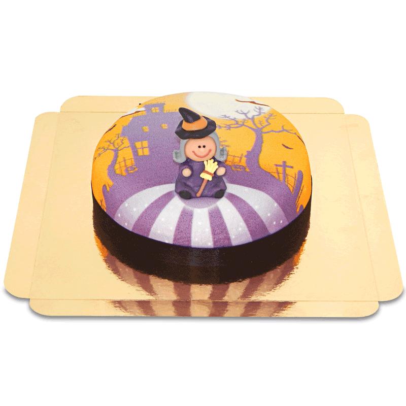 tort z czarownicą