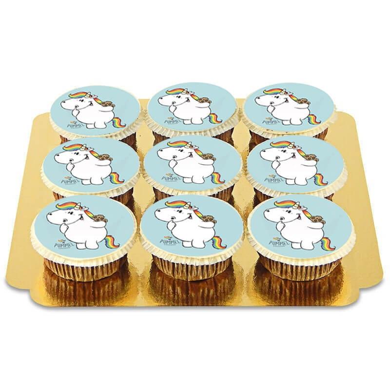 Niebieskie babeczki jednorożec Pummel