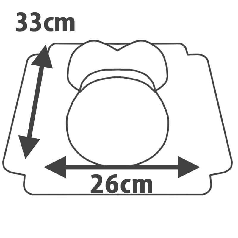 tort brzuszek w różowe kropeczki rozmiar