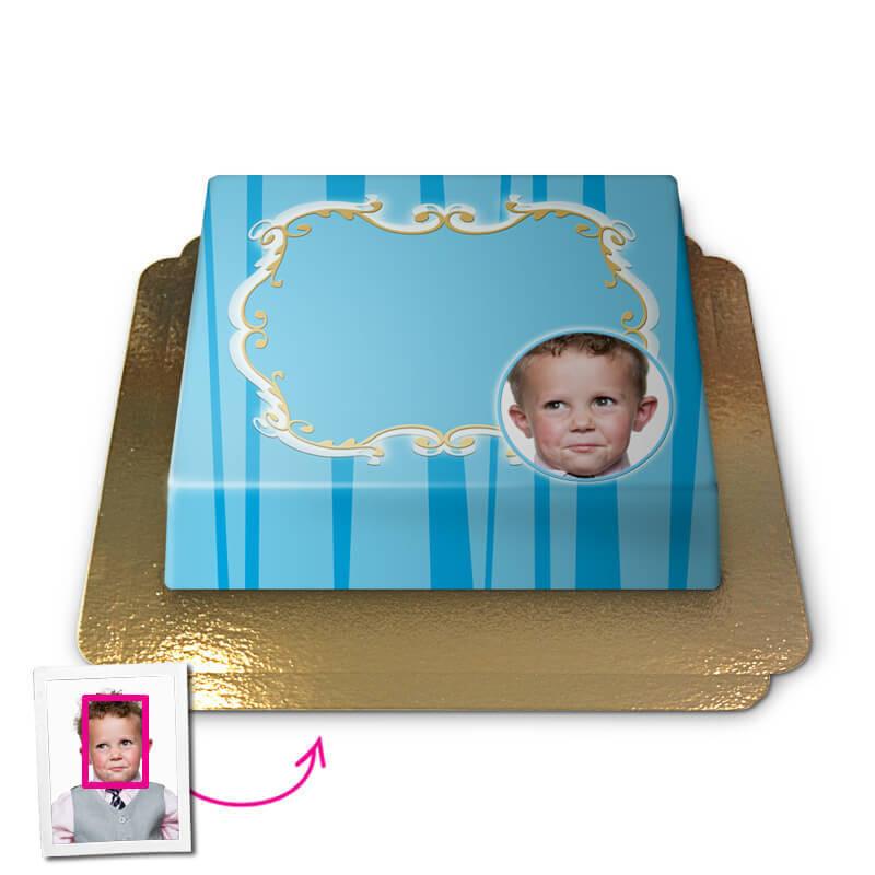 Groet in blauw, Face-Cake