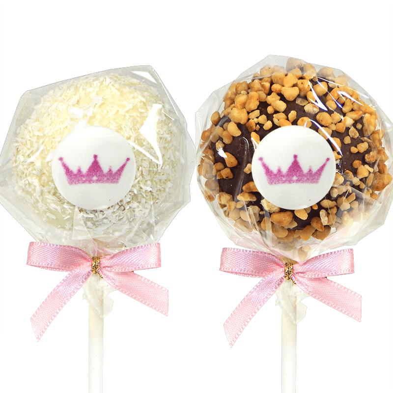 Cake-Pops z logiem, orzech laskowy & wiórki kokosowe (12 sztuk)