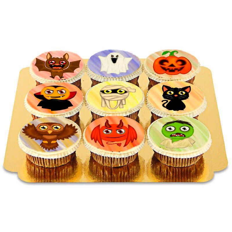 Cupcakes mit Halloween-Kreaturen