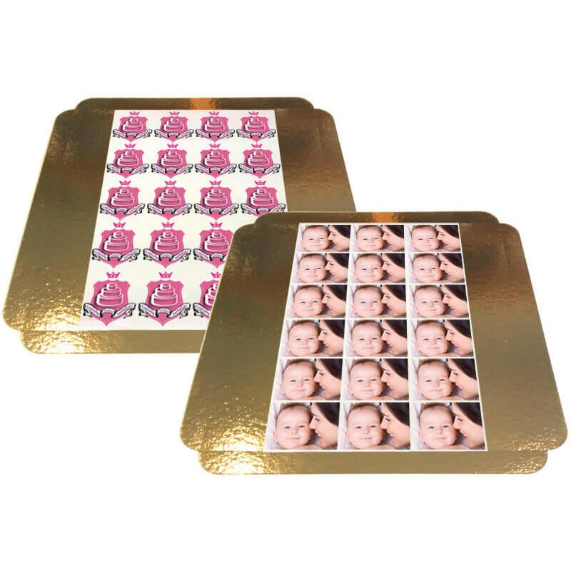 10 eetbare prints voor taartjes - 8 x 8 cm