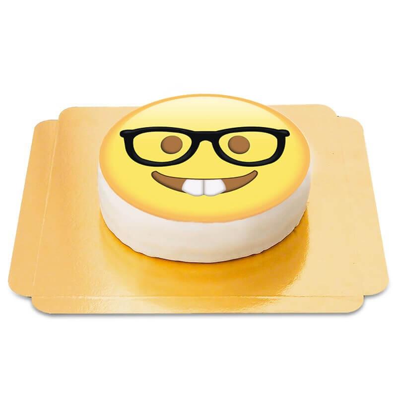 Tort Emotikona - Nerd