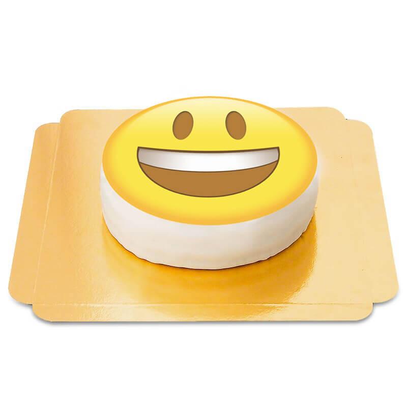 Tort z uśmiechnięta emotikoną