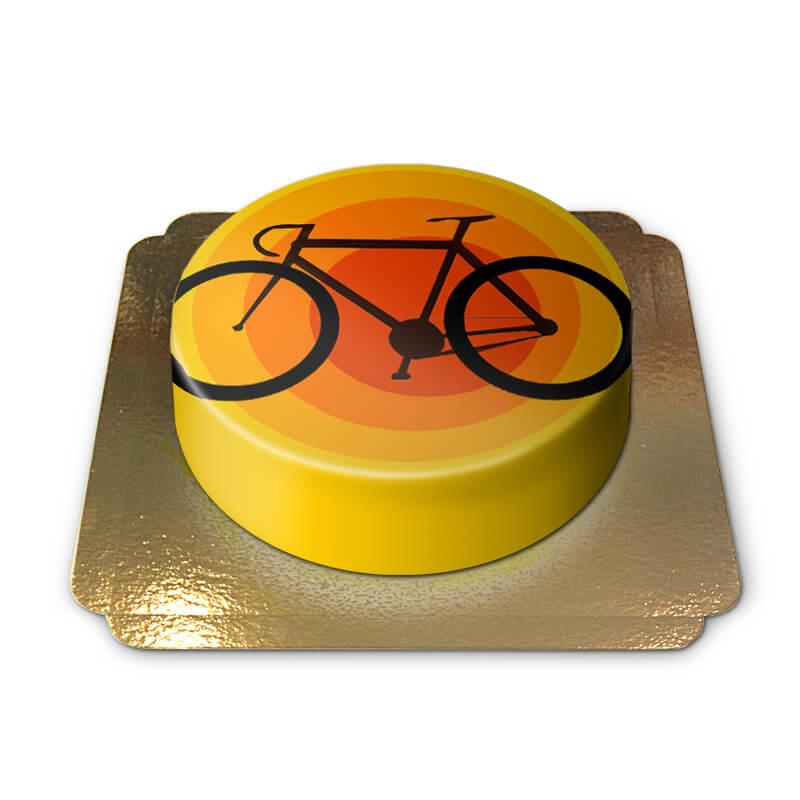 Tort z rowerem