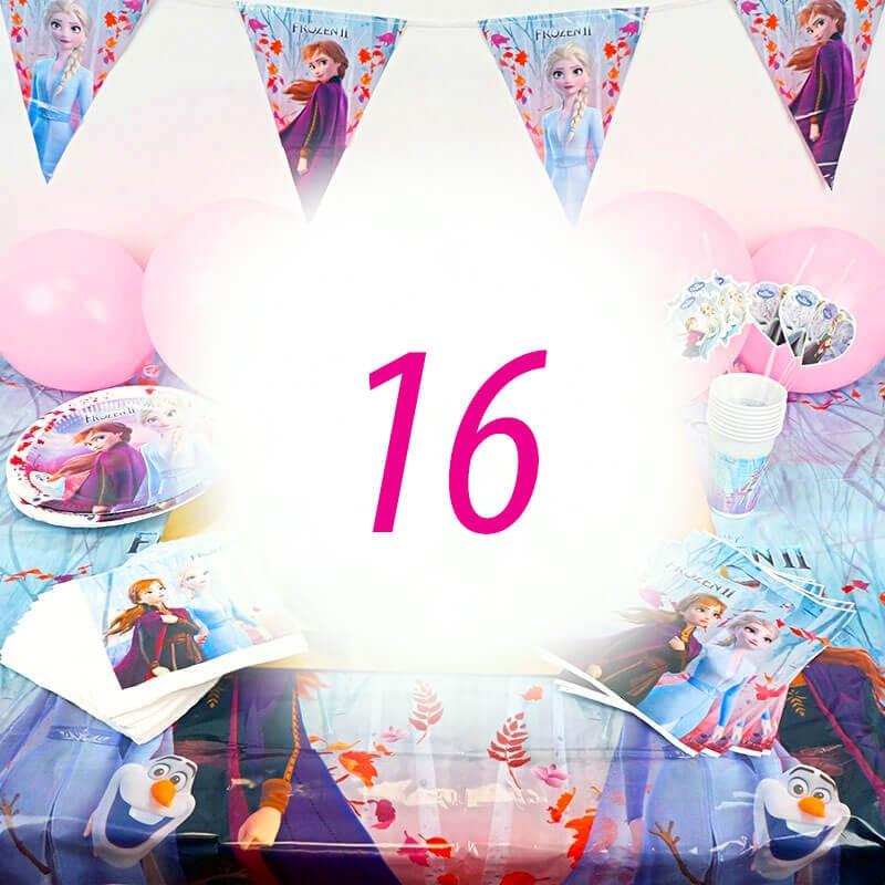 Frozen Partyset 16 Personen - ohne Torte