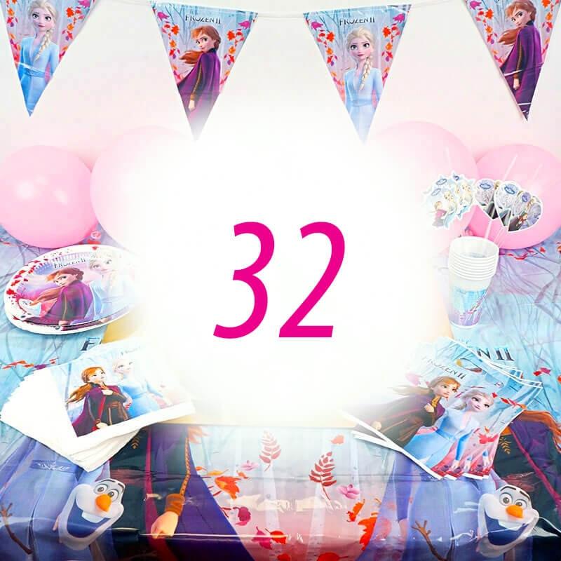 Frozen Partyset 32 Personen - ohne Torte