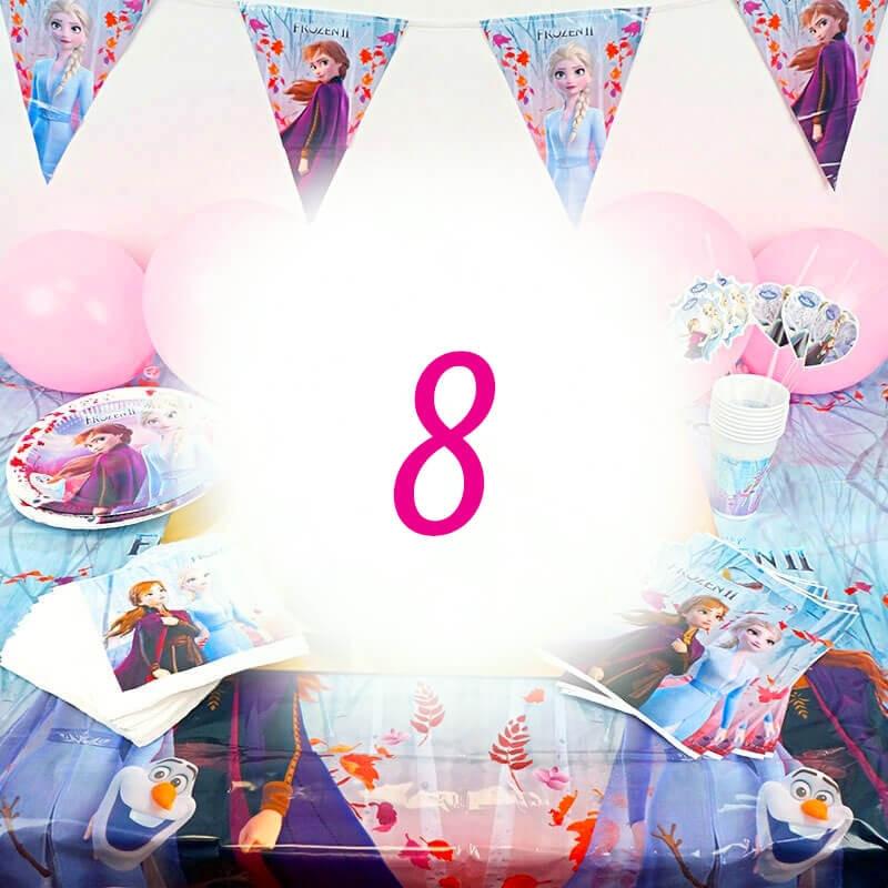 Frozen Partyset 8 Personen - ohne Torte