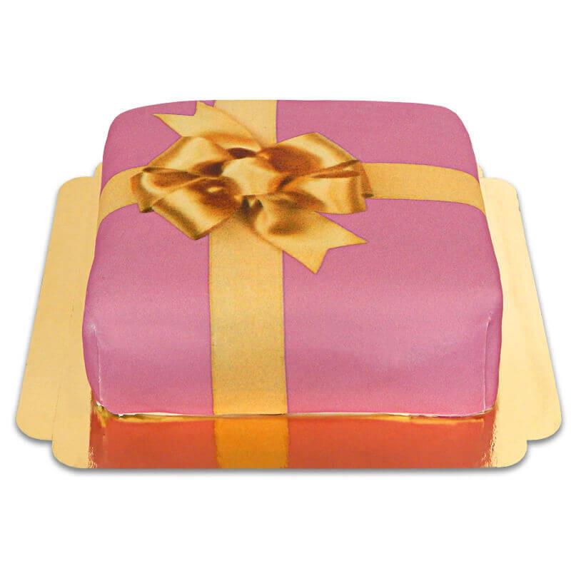 Geschenk-Torte pink