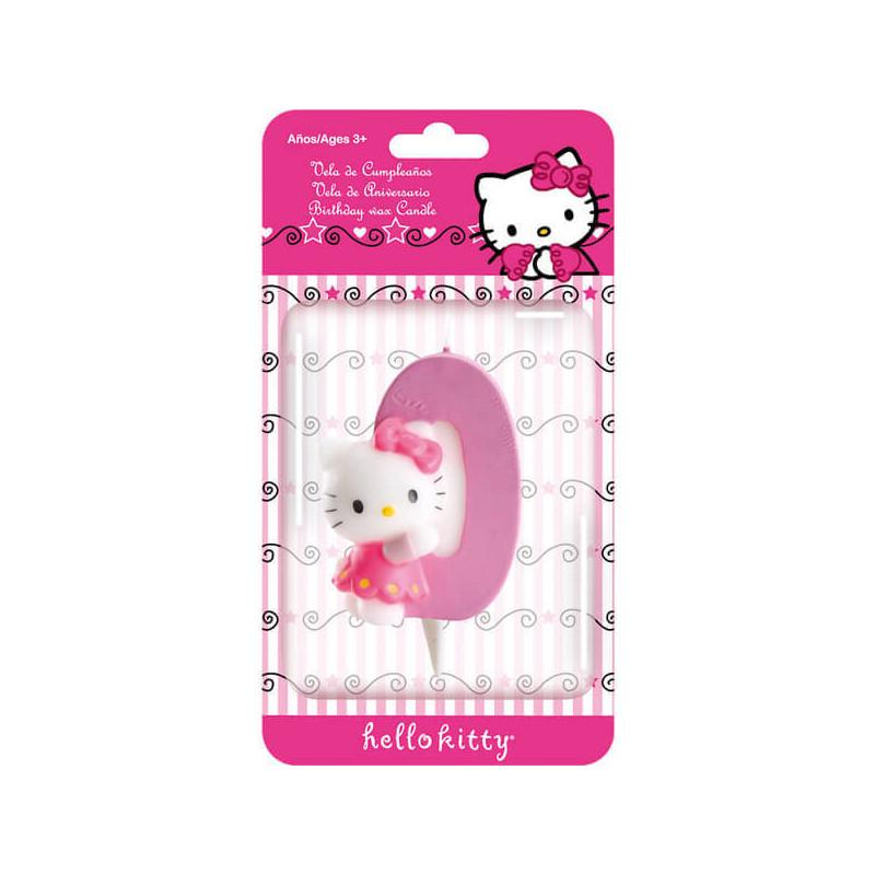 Świeczka tortowa Hello Kitty z cyfrą 0