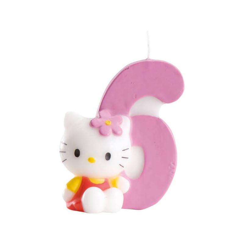 Hello Kitty Tortenkerze, Zahl 6