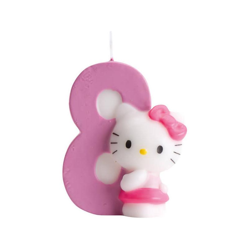 Hello Kitty Tortenkerze, Zahl 8