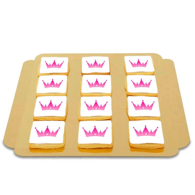 Logo-koekjes, vierkant (12 stuks)