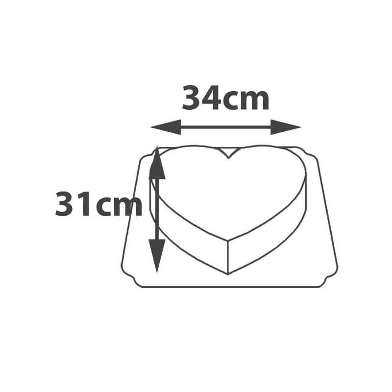 Tort w kształcie serca - wymiary