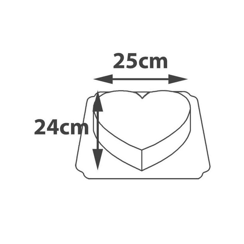 Wymiary tort w kształcie serca