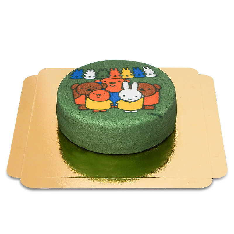 Zielony tort z Miffy