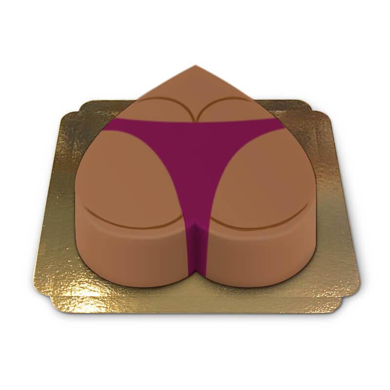 Tort pupa w ciemnoróżowym bikini