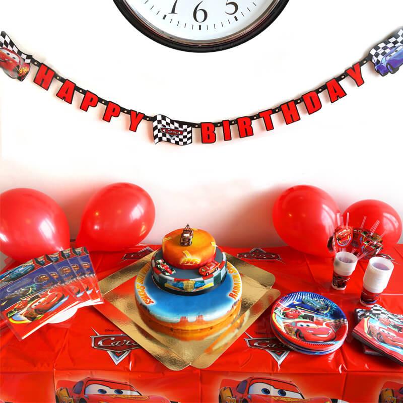 Auta Partyset - zestaw z tortem
