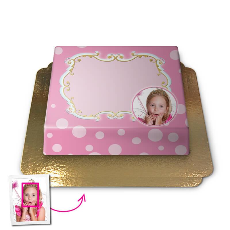 Groet in roze, Face-Cake
