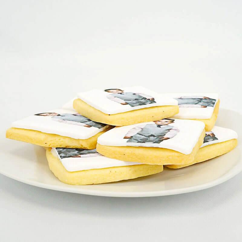 Foto-Keks, Quadratisch (12 Stück)