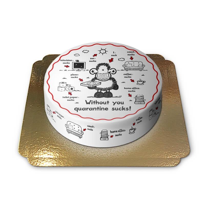 English Sheepworld Quarantaine cake